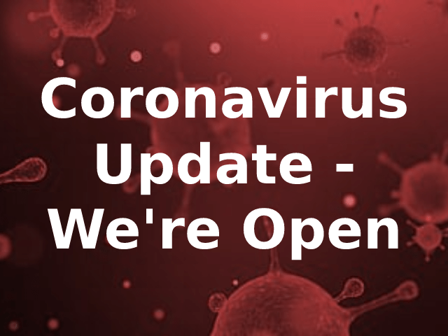 Coronavirus – We're Open
